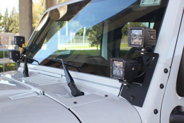 Jeep JK Windshield Dual LED Mount - Proline 4wd Equipment - Miami Florida