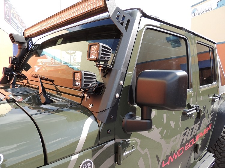 Jeep Jk Windshield Dual Led Mount Made From 3 16 Inch High