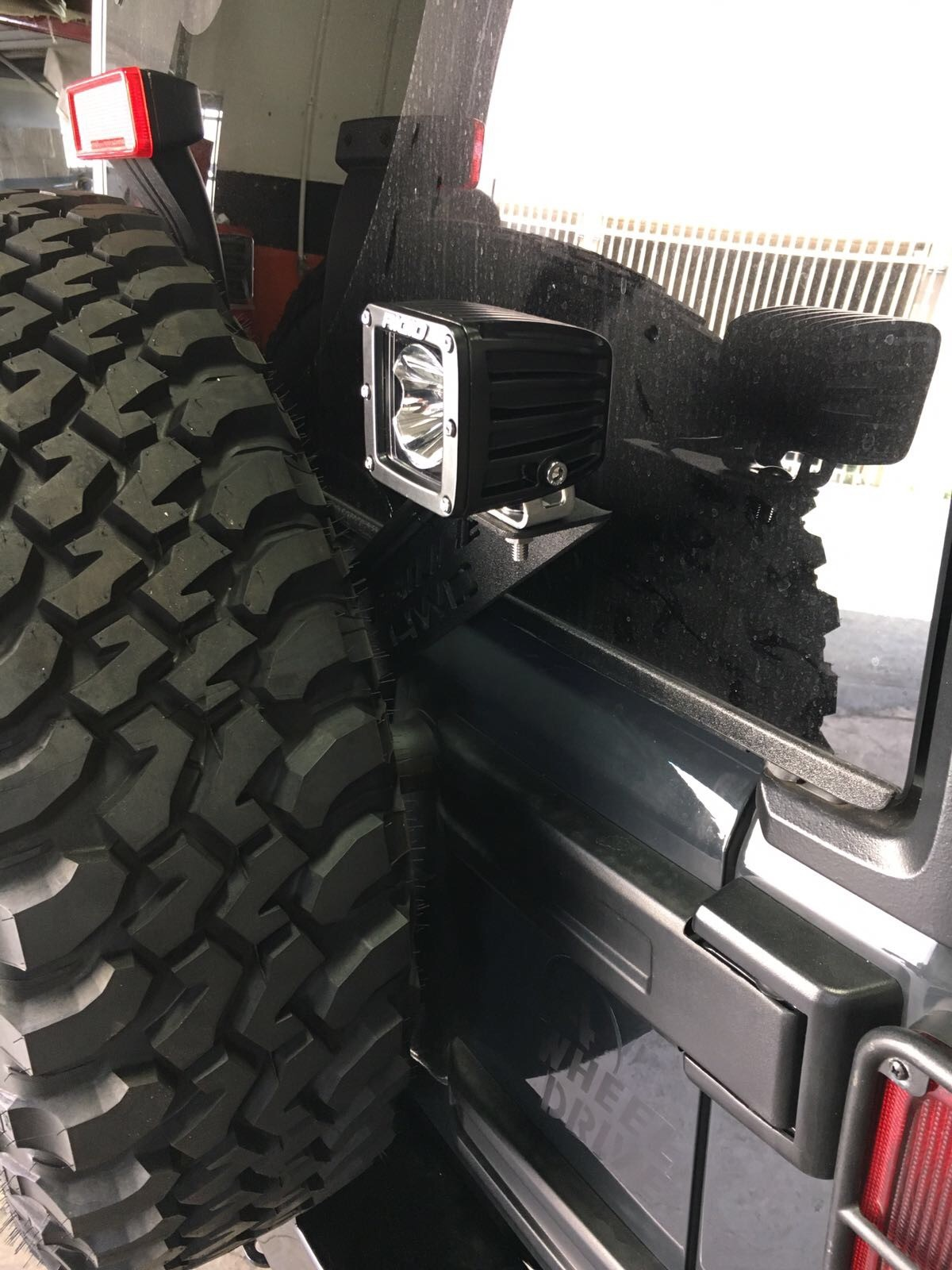 Jeep Wrangler Tailgate Led Mount Bracket 2007 Sold